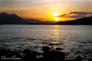 Indonesian Sunset/Photographed at Alami Alor Resort, Indo... by Laurie Slawson