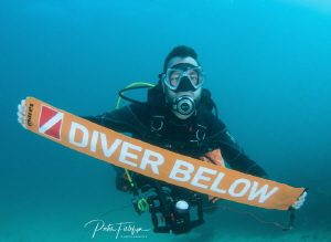 Diver with SMB by Pieter Firlefyn