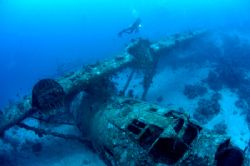 This Catalina Wreck ex WW II, is located in Biak, Papua -... by Iman Brotoseno