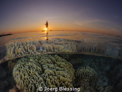 Sunset paddle by Joerg Blessing