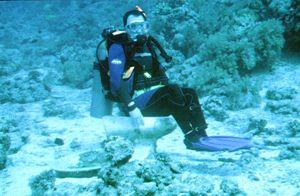 When you gotta go - - - - - .  Yolanda reef, Red Sea by Peter Harris