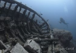 Wreck - This wreck is a bit of a mystery, but based on th... by Jim Garland