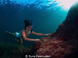 Climbing to the top is easy underwater :D by Rune Rasmussen