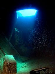 Inside the wreck of the sea viking saw the light shining ... by Becky Kagan