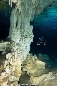 cave diving at Nohoch Nah Chich,Tulum,Mexico