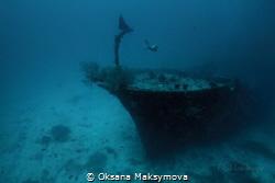 Somewhere deep ... Kuda giri wreck, south Male Atoll by Oksana Maksymova