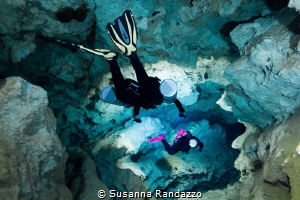 Inside the labyrinth_ shotted during cave  diving in Cen... by Susanna Randazzo