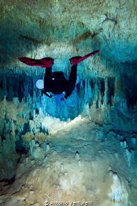 plunge in the unique cave of Zacil Ha_2021 (Canon14mm,t1... by Antonio Venturelli