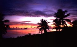 'SUNSET in PARADISE' Pohnpei from The Village. D100; 1-70... by Rick Tegeler