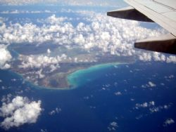 Flying over the Caribbean...sooo pretty by Kelly N. Saunders