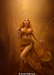 Self Portrait- Making my own Sunshine Woman in gold agai... by Kimber Greenwood