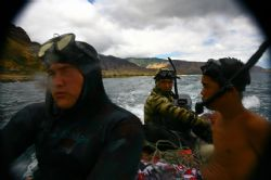 Freedive Waianae. We were on a homeade boat made of styro... by Mathew Cook