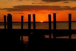 Sunset (after diving) on bayside in Florida Keys - Nikon ... by Michael Salcito