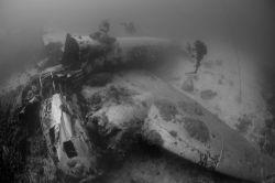 Japanese Betty Bamber in Truk Lagoon by Curt Bowen