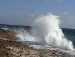 Nature Blowhole in Bonaire by Theresa Akerman-Ihle