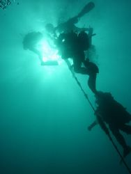 The long Ascent - Malta - I was the last diver at the end... by Sean Hill