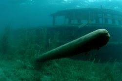 Sweepstakes wreck. I think the object in the foreground i... by David Heidemann