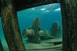 Sweepstakes wreck. Tobermory, Ontario. 10.5 mm fisheye le... by David Heidemann