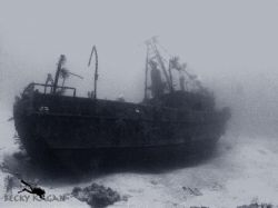 The wreck of the Sea Viking in Nassau. by Becky Kagan