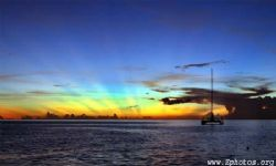 A dominica sunset from the south of the island. by Zaid Fadul