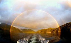 End of the Rainbow. Barkley Sound, B.C. Canada.