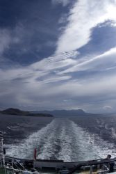 Leaving Ullapool heading for Stornaway.