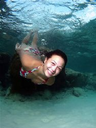 Underwater Babe! Taken In Redang, Malaysia! by Ed Eng