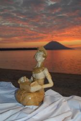 Sunset in Manado with surprise. Nikon D200, 24.85 zoom, t... by Marchione Giacomo