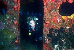 Duane wreck - Key Largo Sunk in 122 ft of water in the mi... by Michael Salcito