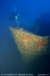 A Pilot boat lying intact at 55(msw) is what we found in ... by Skinonimus Uw