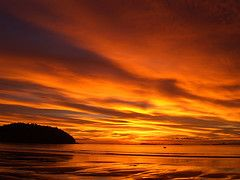 Amazing sunset at Koh Chang Thailand by Patrick Neumann