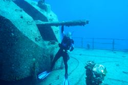 Taken in Cayman Brac at the Russian Destroyer. No Flash. by Lee Marple