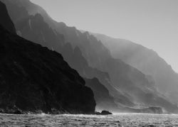 Na Pali Landscape. This rugged Kauai coastline is accessa... by Mathew Cook