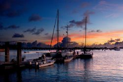 Small Boat Marina. On Kwajalein, in the Marshall Islands.... by Lee Craker