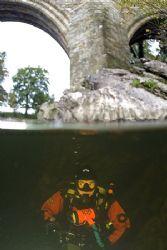 Mr Haslam under Devil's Bridge. River Lune, Cumbria. D2... by Mark Thomas