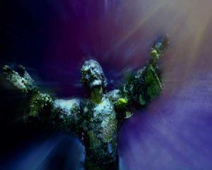 Christ of the Sea, Key Largo, Florida by Ronnie Cardwell