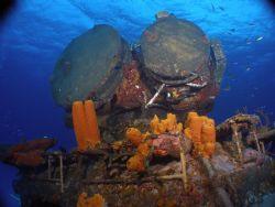Russian Destroyer-Cayman Brac Olympus 350 with Ikelite H... by Vicki Sarver