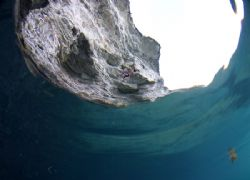 Deep Water Soloing on Atlantis by Grant Farquhar