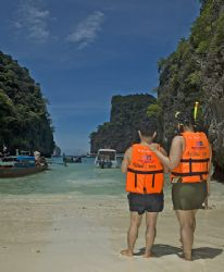 Island close to Koh Phi Phi; During the pause between tw... by Jean-Louis Danan