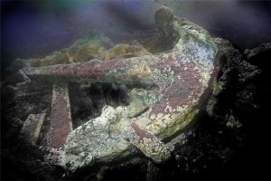 "anchor of the ""China Wreck"" taken on a trip to Ascension ... by Steve Baillie"