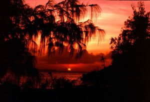 Sunset my last day in Palau.  Leaving after a paradise on... by Tod M. Wolf