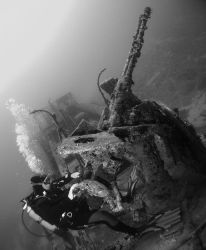 """Image name: """"Anti aircraft"""" Was taken at the wreck f the... by Robert Roka"""