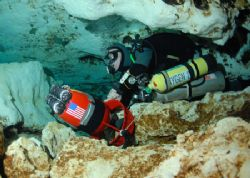 Cave diver. Taken at Ginnie Springs FL. Camera d-200, Ike... by Ray Eccleston