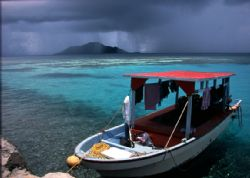 April Showers.  An April view of Truk Lagoon by Robert L. Gallo