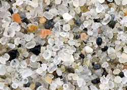 Grains of sand. Skeleton Coast, Namibia. 2007. by Chris Wildblood