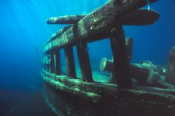 wreck of the Sweepstakes Tobermory, Ontario, Canada by Ian Brooks