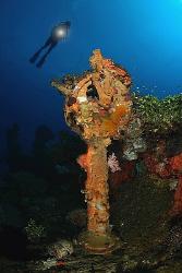 Ships Telegraph - Chuuk/Truk Lagoon. by Jim Garland