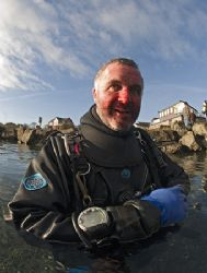 Bloody nose Mr Thomas! Bad day's diving at Capernwray. D2... by Derek Haslam