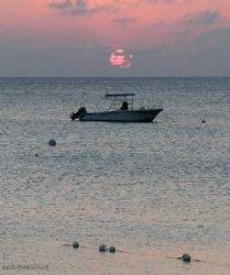 beautiful sunset outside of Calico Jack's in Grand Cayman... by Andrew Kubica