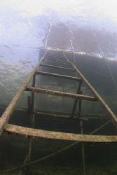 Ladder. Stoney cove. D200, 16mm. by Derek Haslam